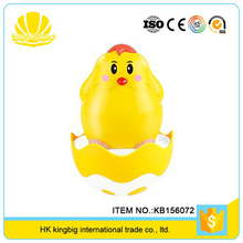 2017 hot popular music cute tumbler toy plastic chickens for kids playing