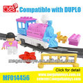 FUNLOCK Kids Duplo Battery Operated Train Station Building Block Toys for Girl