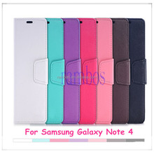 Luxury Wallet Case Stand Flip Cover Leather Case with Card Slot Holder for Samsung Galaxy Note 4 N9100/Note 3 N9000/S4/S4 mini