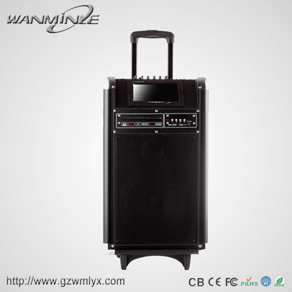 High Tech Multimedia Digital Loud Speaker With 7inch Display Screen Powered Amplifier With Guitar Input