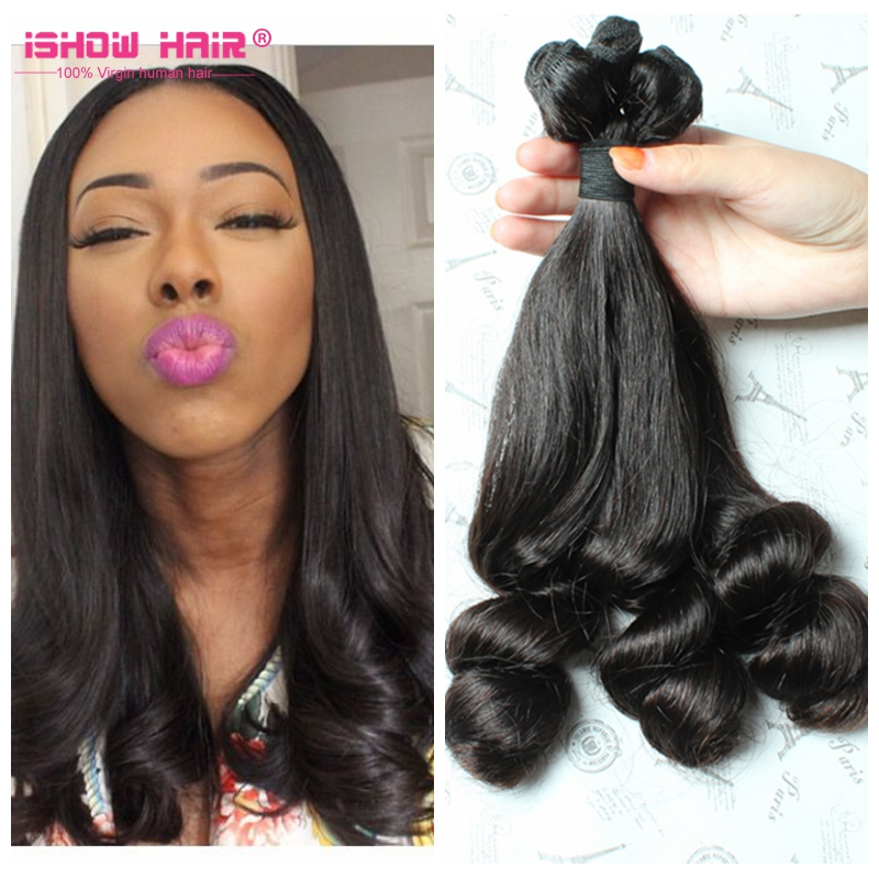 Funmi Hair,100% Virgin Human Hair Aunty Funmi Hair Double Drawn Bouncy Curls
