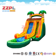 ZZPL Large Tropical Wave Inflatable Water Slide For Sale WSR-37
