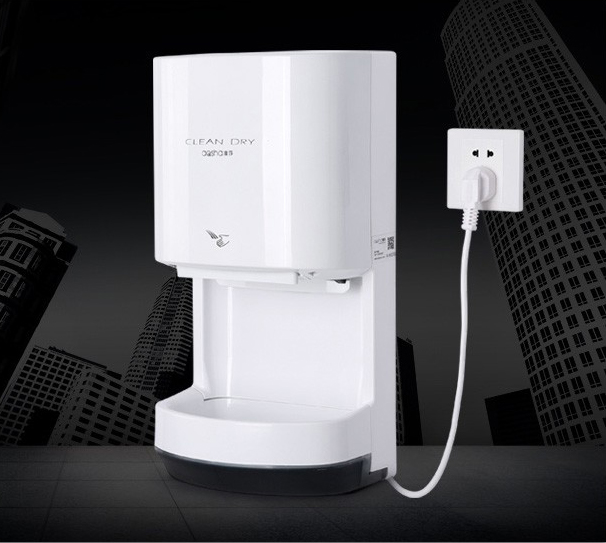 Manufacturer wall mounted high speed automatic sensor jet air hand dryer for hotel