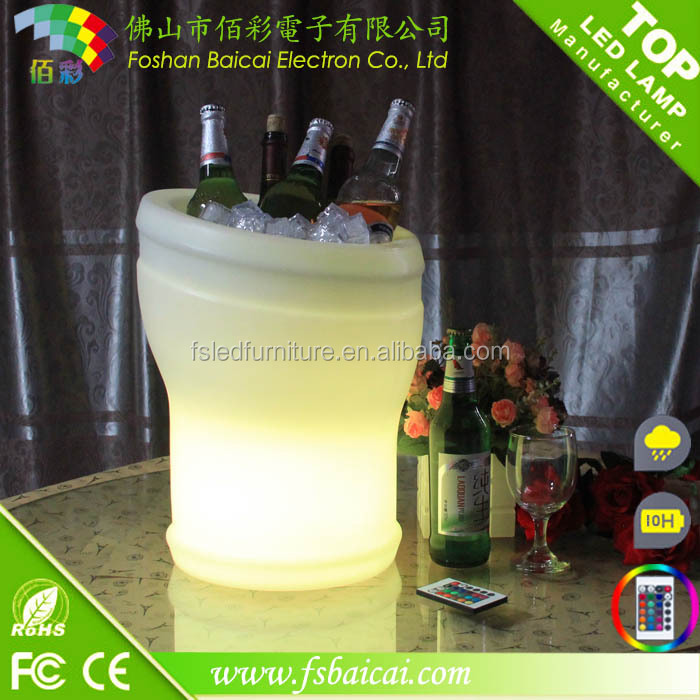 Bars clubs use glow led ice bucket