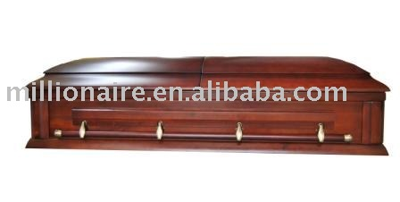 Funeral products rental wooden casket