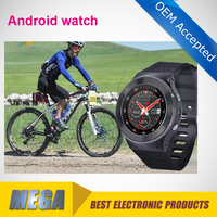 3G smart watch phone with Android OS quad core , WCDMA SIM card , wifi included