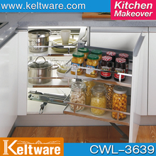 Magic Corner Pull Out Pantry Kitchen Tandem Lazy Susan Storage Pullout Slide Soft Close Unit Wire Basket Organizer Larder WL3604