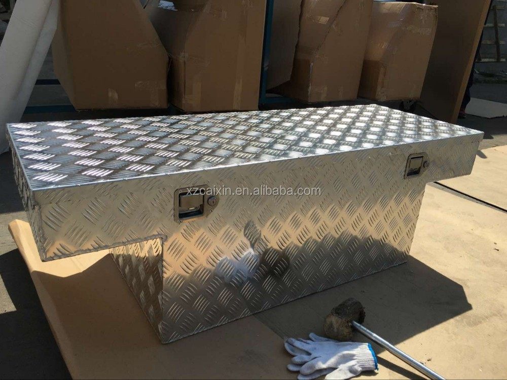 Aluminum cross bed Truck Tool Box,Storage Chest