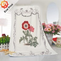 soft machine washable micro fiber heat transfer bathroom towel