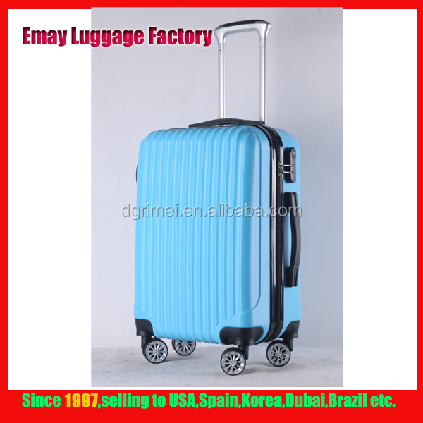 Standard size spinner Aluminum trolley PC ABS luggage