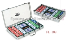 Aluminum twice test before packaged impactful poker chip set with roulette made in China Guangdong Foshan