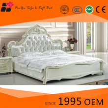 High quality low price latest double bed designs, comfortable king bed sale for living room