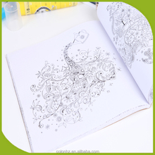 Softcover Children activity pad colorful coloring books with customized style