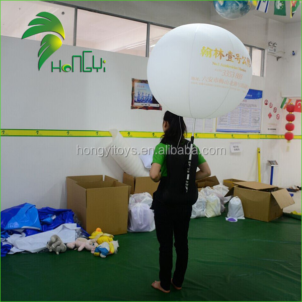 Hot Sale Air Light Balls / Led Lighting Up Inflatable Backpack Balloon With Logo Printing