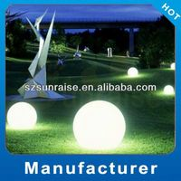 different sizes color changing outdoor use led light magic spinning ball