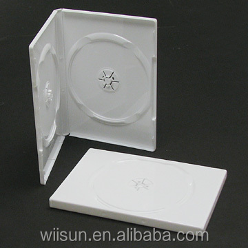 14mm dvd case white double