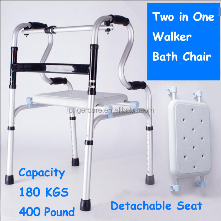 Aluminium walking aid walker rollator for old people and disable handicaped super light weight