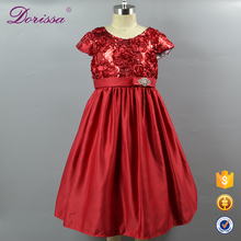 Guangzhou 2017 Latest Baby Girl Party Dress Children Frock Design Fashion Flower Girl Dress