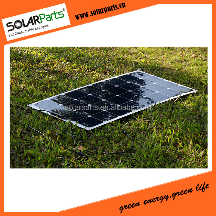 100W High Efficiency Sunpower Monocrystalline PV Solar Power Harga Panel