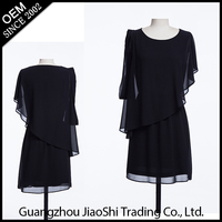 China dress manufacturer new fashion black plus size one piece long ladies cheap cost dress for women