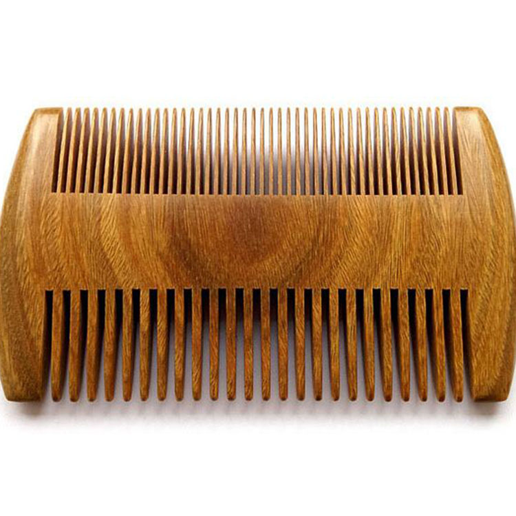 Double Sided sandalwood head wooden lice comb beard comb