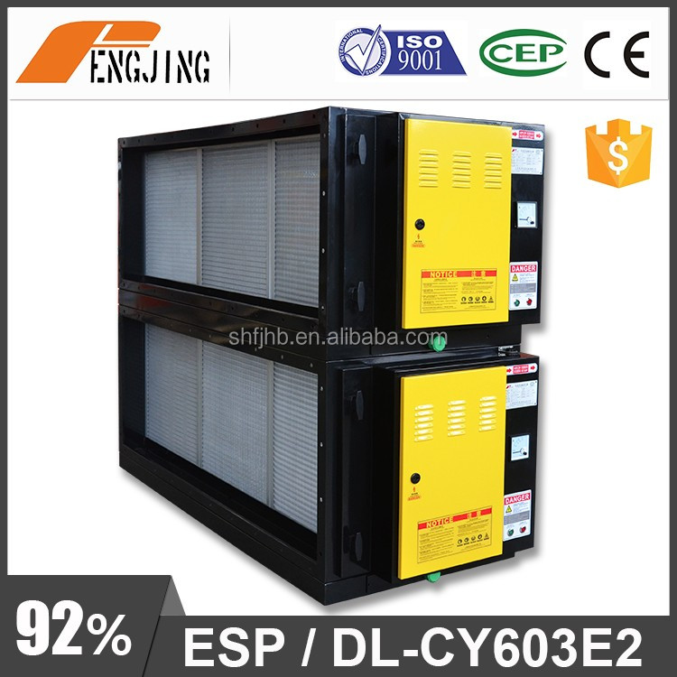 Mini Electrostatic Precipitator for Kitchen Emissions Control with honeycomb filter