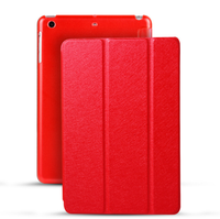 For iPad Mini 1/2/3/4 Leather Cover, Silk Texture Ultra Slim Flip Smart Tablet Case