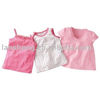 100% Cotton Baby Vest Baby Tops Baby Clothing