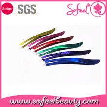 Sofeel slant tip type 2016 best design tweezer for eyebrow