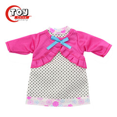 14 inch baby doll clothes with flower pattern