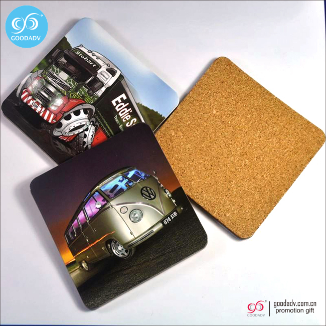 Eco-friendly promotional colorful round bar mat beer coaster /cup mat