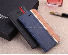 Contrast color Fashion PU Leather Wallet Flip Mobile Phone Case Cover For Blackberry 9900
