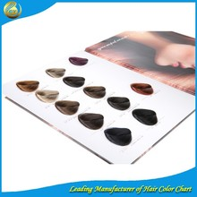 top quality color chart hair dye hair color swatch chart for salon use