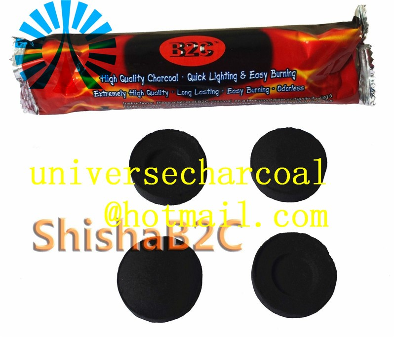 wholesale hot sell high quality sheesha chacoal, round shape wood shisha charcoal, best hookah charcoal burner for shisha