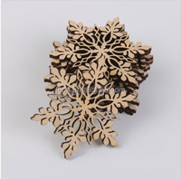 nature Wooden Snowflakes Cutouts 80 mm diameter Wooden Holiday Ornament Unfinished Wooden Snowflakes for DIY Rustic Christmas T