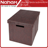 NAHAM faux leather foldable storage box with lids