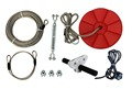 CTSC 95' Family Backyard Zip Line Kit with Brake and Seat, Zip Line Cable Trolley Pulley FUN and COOL