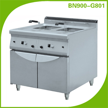 Commercial kitchen equipment for hotel and restaurant/Gas deep fryer with cabinet BN900-G801