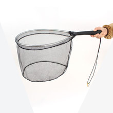 new design nylon fishing net rubber carp fish landing net