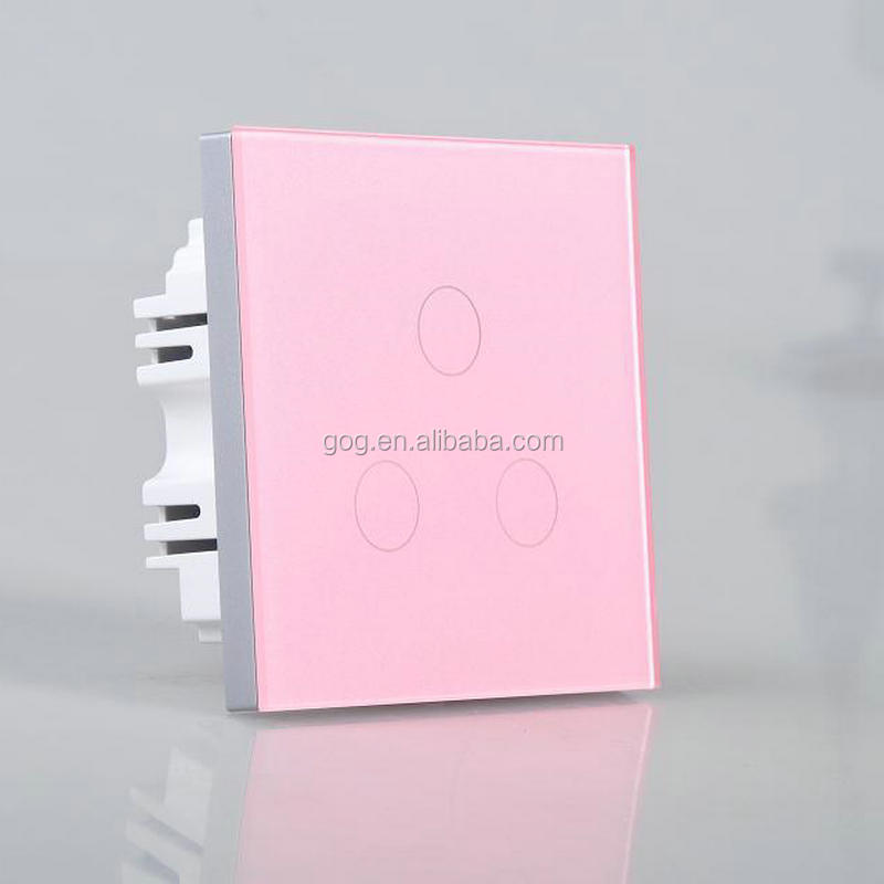 touch screen light control switch, 3 gang one way /two way switch