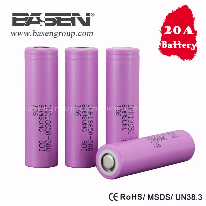 high capacity rechargable battery 3000mah 3.7v samsung 30Q lithium ion battery cell 18650