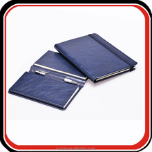 Custom triple folding travel journal leather sketch pad with pen
