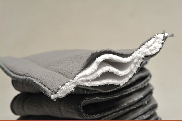 Bamboo Charcoal Liner Inserts For Baby Diaper 100% Natural Bamboo Material washable Cloth diaper 5 layers