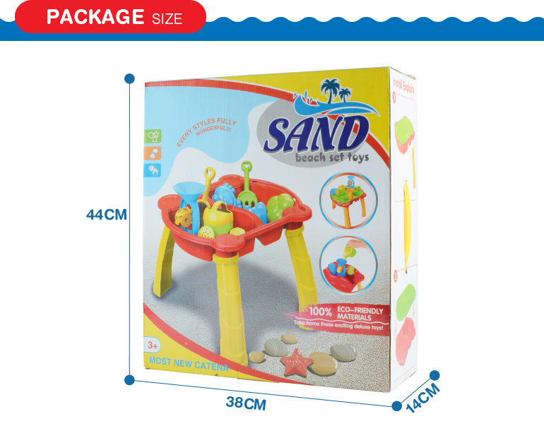 new product sunmmer water play table set outdoor plastic sand beach toys for kids