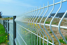 Premium Powder Coating DD high standard v beam/ galvanised weld mesh fencing with metal posts