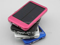 Solar power 0.7W 5000 Mah mobile phone charger