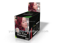 Ginseng and Olive oil extract magic fast DEXE hair color shampoo in high quality