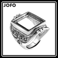 Anti Silver Plated High Quality Halo Ring Settings Without Stones Wholesale