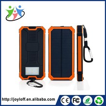 Wholesale OEM 15000mAh portable charger solar battery power bank solar mobile charger for mobile phone
