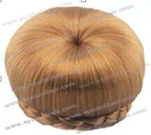 fashion synthetic bun chignon